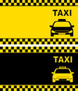 Taxi business card two with cab image Royalty Free Stock Photo