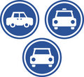 Taxi cabs - Vector icons Royalty Free Stock Photography