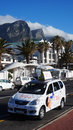 Taxi in cape town south africa oct driver waits for customer various fleets of metered taxis supplement the Royalty Free Stock Images