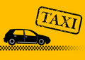 Taxi car illustration Royalty Free Stock Images
