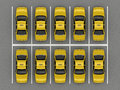 Taxi car parking top view Royalty Free Stock Photo