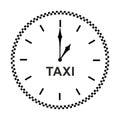 Taxi clock icon