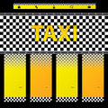 Taxi company website template with options and their descriptions Royalty Free Stock Images