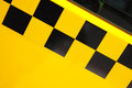 Taxi door of car with checker Stock Images