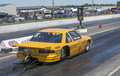 Taxi drag car napierville june picture of starting at the green light on the track during challenger cuda owners association event Royalty Free Stock Photography