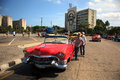 Taxi driver in Cuba Royalty Free Stock Photo