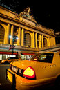 Taxi, Grand Central Royalty Free Stock Photo