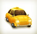 Taxi icon illustration on white background Royalty Free Stock Photography