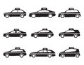 Taxi icon set Royalty Free Stock Photo