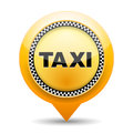 Taxi icon on white background Royalty Free Stock Image