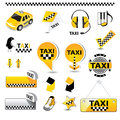 TAXI icons Royalty Free Stock Photo