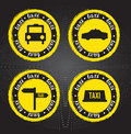 Taxi icons Stock Images