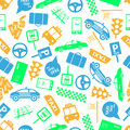 Taxi icons color seamless pattern eps Royalty Free Stock Photography