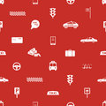 Taxi icons red seamless pattern eps Royalty Free Stock Photos