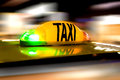 Taxi in motion with speed like blured background Stock Photo