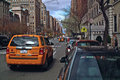Taxi Park Avenue New York Royalty Free Stock Photo