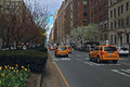 Taxi Park Avenue New York Royalty Free Stock Image