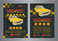 Taxi pickup service design layout templates. A4 call taxi concept flyer.