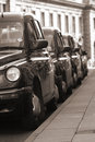 Taxi Rank Royalty Free Stock Photography