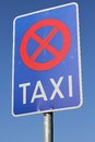 Taxi rank german road sign Royalty Free Stock Photography