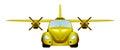 Taxi. Retro flying car.