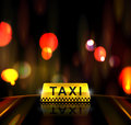 Taxi service in city eps Royalty Free Stock Images