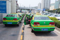 Taxi service in jiuzhou port Stock Image