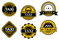 Taxi service symbols set of for transportation design Royalty Free Stock Photos