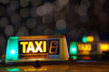 Taxi signs Stock Image