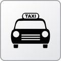 Taxi square icon of the Stock Photography