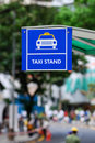 Taxi stand sign Royalty Free Stock Photo