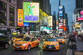 Taxi on Times Square Royalty Free Stock Photo