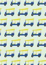 Taxi tuk tuk pattern background vector Stock Photography