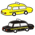 Taxi yellow and black Stock Photo