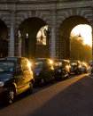 Taxis de Londres Images libres de droits