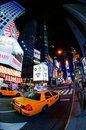 Taxis de New York Photographie stock libre de droits