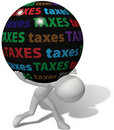 Taxpayer under large unfair tax burden Royalty Free Stock Photo