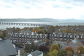Tay bridge view over city of dundee in scotland Stock Photo