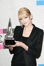 Taylor swift at the american music awards press room nokia theater los angeles ca Stock Photos
