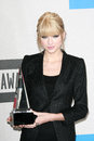 Taylor swift at the american music awards press room nokia theater los angeles ca Royalty Free Stock Photos