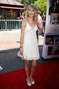 Taylor swift at the los angeles premiere of another cinderella story pacific theaters the grove los angeles ca Royalty Free Stock Images