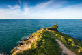 Tayor mistake cape walking track on hill near the sea christchurch new zealand Stock Photos