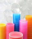 Taza plástica Foto de archivo