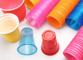 Taza plástica Imagen de archivo