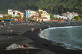 Tazacorte on la palma canary islands spain beach and promenade of puerto de one of the Royalty Free Stock Photo