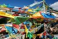 Tbetan prayer flags Stock Photos