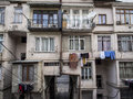 Tbilisi courtyard of the blocks on the abashidze street on april the street is located in vake district which is considered on of Royalty Free Stock Photos