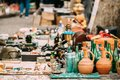 Tbilisi, Georgia. Shop Flea Market Of Antiques Old Retro Vintage Royalty Free Stock Photo