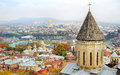 Tbilisi skyline cityscape of georgia aerial view Royalty Free Stock Photo