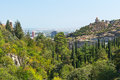 Tbilisi skyline parkland botanical garden landscape Royalty Free Stock Photos